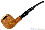 Blue Room Briars is proud to present this London Stud Carved Apple with Meerschaum Lining Sitter with Military Mount Estate Pipe
