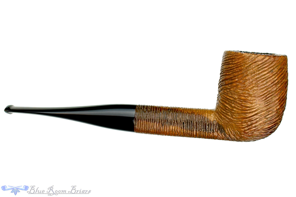 Blue Room Briars is proud to present this CK Co Brush Carved Billiard Sitter Estate Pipe