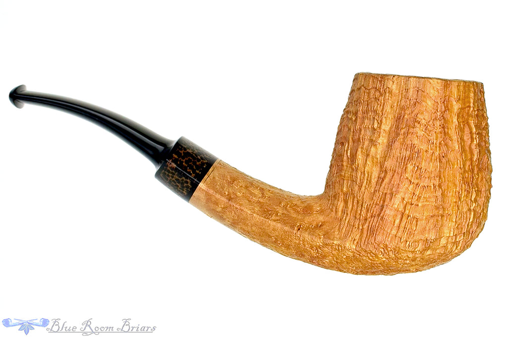 Blue Room Briars is proud to present this Jesse Jones Pipe Tan Blast 1/4 Bent Egg with Palm Wood