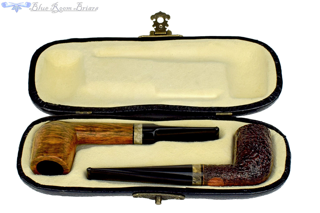 Blue Room Briars is proud to present this Max Capps Pipes Boxed Set of Billiards with Vintage Redwood