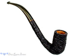 Blue Room Briars is proud to present this Max Capps Pipe Bent Bore Ring Blast Billiard with Brindle