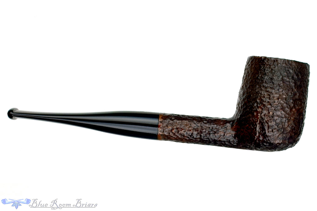 Blue Room Briars is proud to present this Savinelli One 104 Rusticated Billiard Sitter (6mm Filter) Estate Pipe