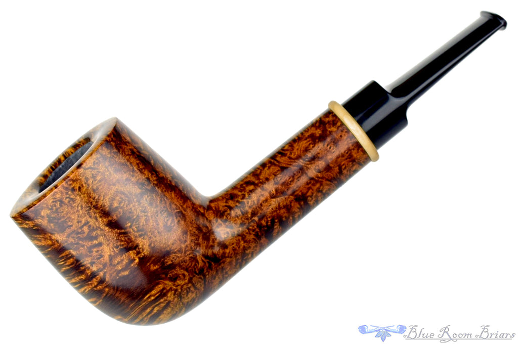 Blue Room Briars is proud to present this Bill Shalosky Pipe 350 Large Billiard with French Boxwood Ring