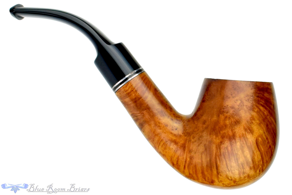 Blue Room Briars is proud to present this Golden Gate 303 1/2 Bent Natural Billiard Estate Pipe