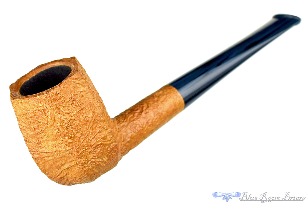 Blue Room Briars is proud to present this Jesse Jones Pipe Tan Blast Panel Billiard with Blue Brindle