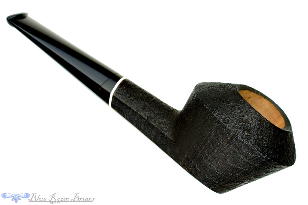 Blue Room Briars is proud to present this Marek Kando Pipe Partial Sandblast Bulldog with Blackwood