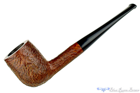C.B. Perkins Antique Sitter Tan Blast Egg Estate Pipe