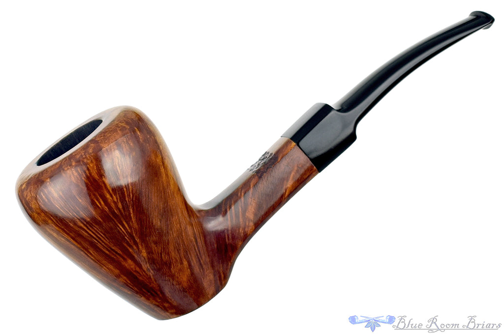 Blue Room Briars is proud to present this Square Shank Bent Pear Sitter Estate Pipe