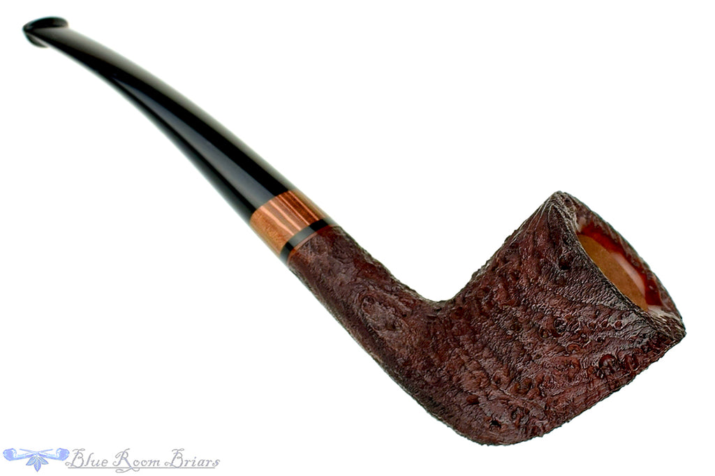 Jesse Jones Pipe Deshong Set 3 of 4 Sandblast Zulu with Macadamia Wood