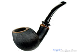 Blue Room Briars is proud to present this Steve Morrisette Pipe Black Labrador Finish Egg with Tulip Wood