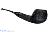 Blue Room Briars is proud to present this Steve Morrisette Pipe Black Blast Bent Egg with Buffalo Horn