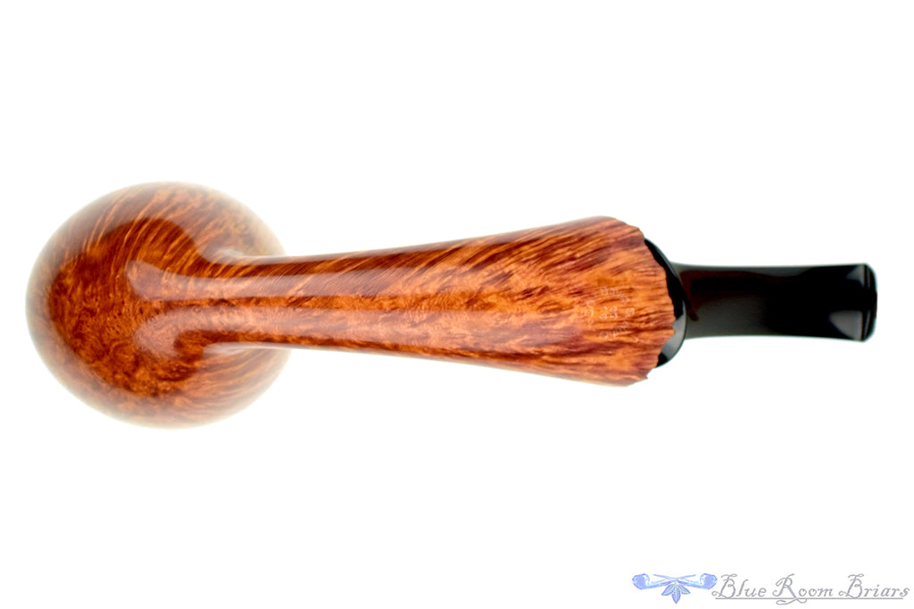 Blue Room Briars is proud to present this David S. Huber Pipe 1/2 Bent Straight Grain Very Large Freehand with Plateau and Crown