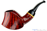 Blue Room Briars is proud to present this David S. Huber Pipe 1/2 Bent Volcano with Box Elder Ring