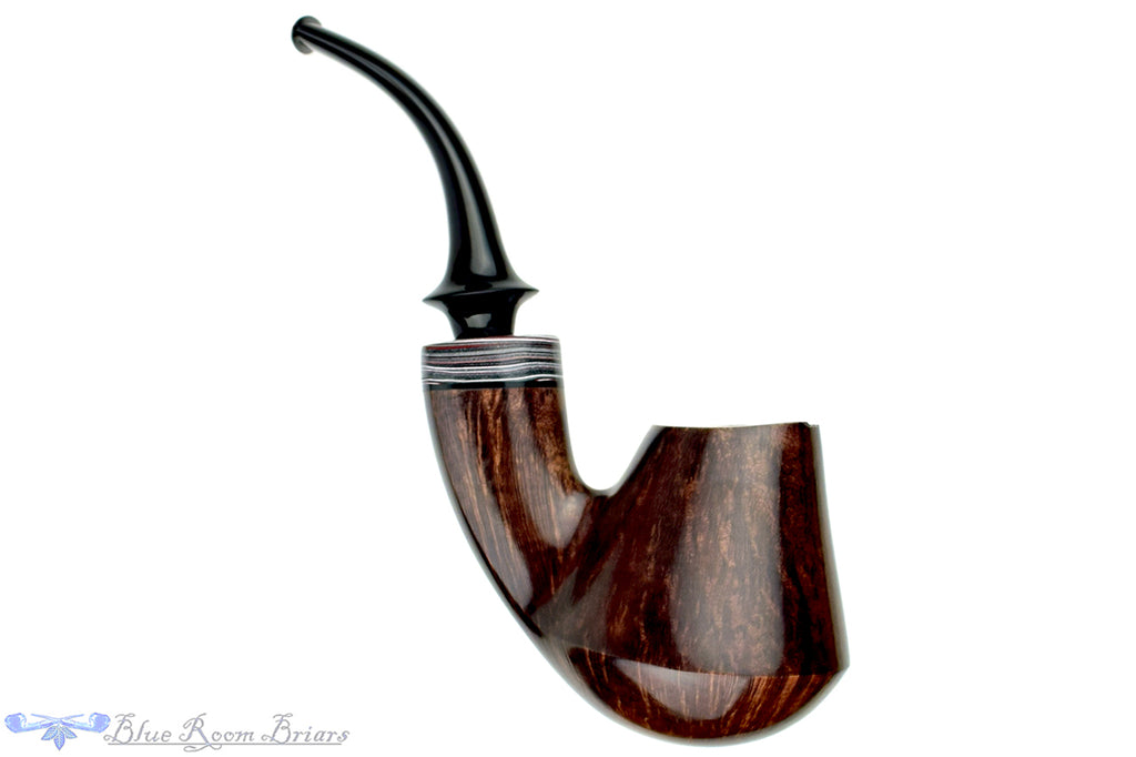 Blue Room Briars is proud to present this Marinko Neralić Pipe Full Bent Volcano with Fordite