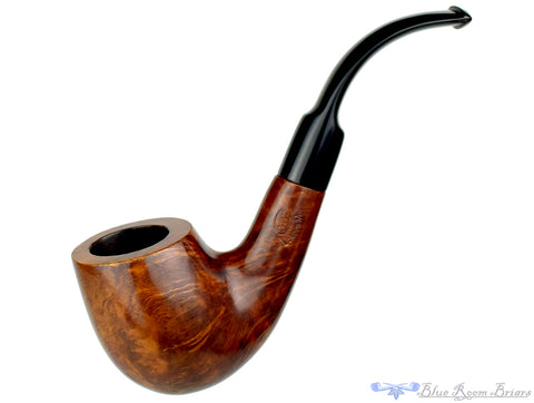 Santini Bent Partial Carved Volcano Estate Pipe
