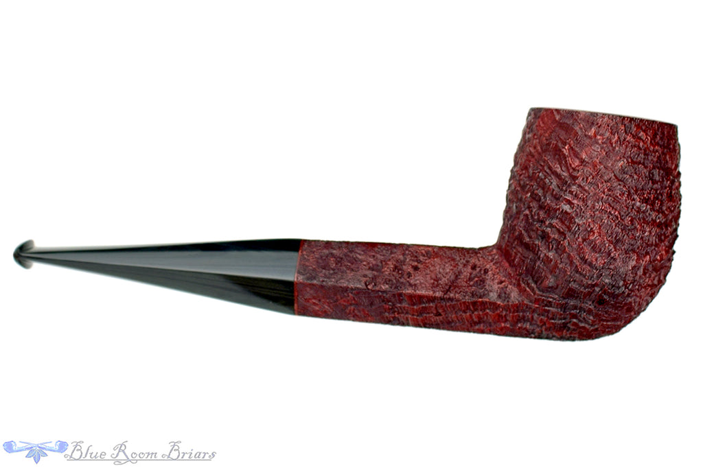 Blue Room Briars is proud to present this Jesse Jones Pipe Sandblast Naval Billiard with Dark Gray Brindle