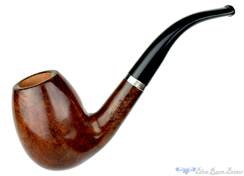 Blue Room Briars is proud to present this Genod Pipe 1/2 Bent Egg with Nickel