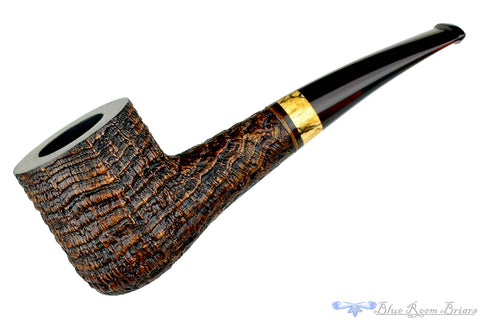 Jerry Crawford Pipe Natural Ring Blast Lovat with Brindle