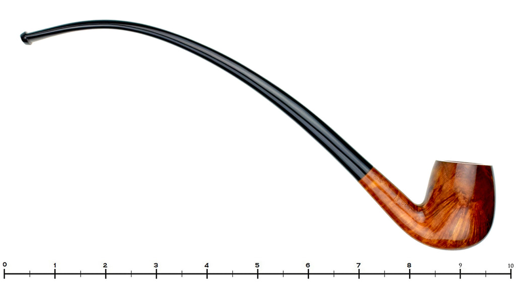 Blue Room Briars is proud to present this Savinelli 601 1/2 Bent Smooth Billiard Churchwarden UNSMOKED Estate Pipe