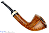 Blue Room Briars is proud to present this Charl Goussard Pipe Oval Shank Dublin with Warthog Tusk