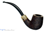 Blue Room Briars is proud to present this Jerry Crawford Pipe Sandblast 1/2 Bent Billiard with Military Mount and Horn