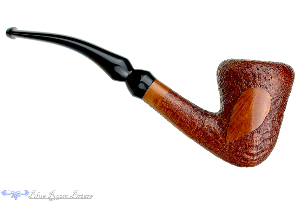 Blue Room Briars is proud to present this Jarl 1523 Bent Partial Blast Danish Dublin UNSMOKED Estate Pipe