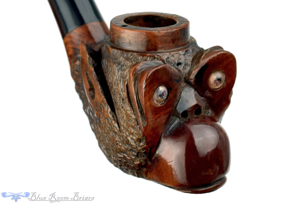 Blue Room Briars is proud to present this Wally Frank LTD. Bent Monkey Figural Marceau UNSMOKED Estate Pipe