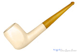 Blue Room Briars is proud to present this Meerschaum Panel Billiard with Bakelite Stem UNSMOKED Estate Pipe