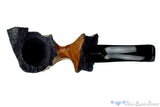 Blue Room Briars is proud to present this Carved Rosewood 3/4 Bent Freehand UNSMOKED Estate Pipe