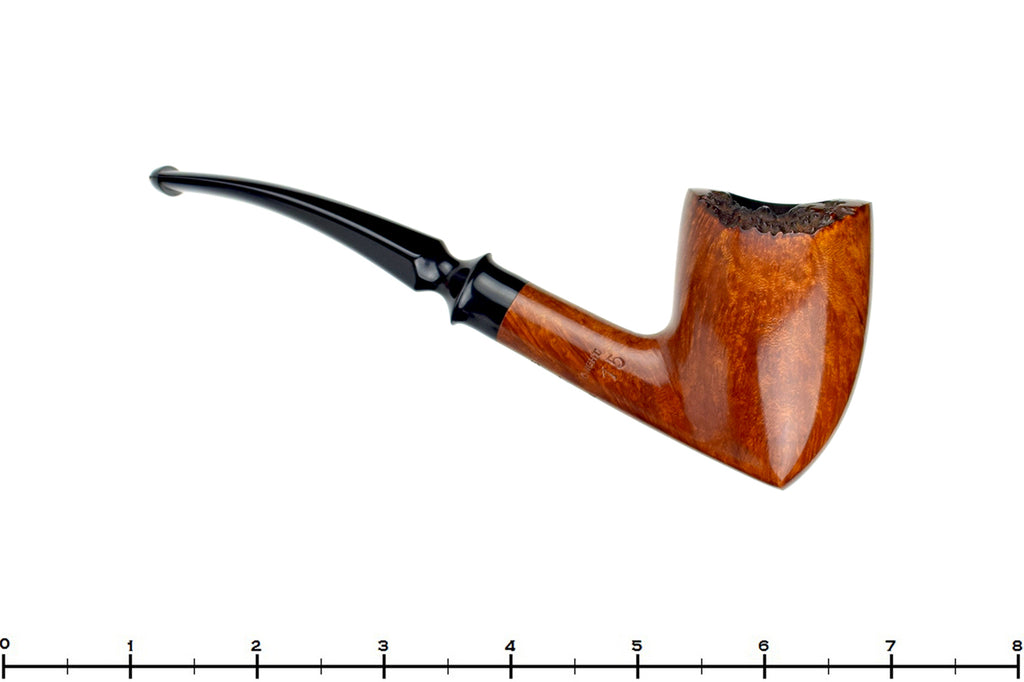 Blue Room Briars is proud to present this Celius Root Knight 1/2 Bent Freehand Acorn Estate Pipe