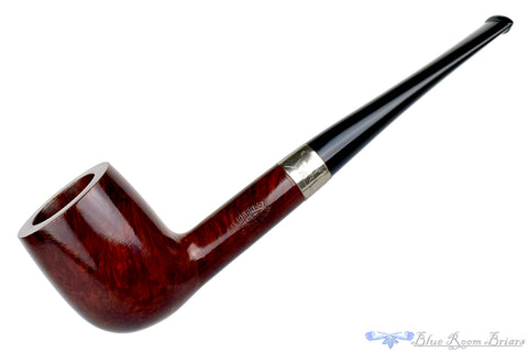 Karl Erik Handmade 1/4 Bent Egg (6mm filter) with Nickel Band Estate Pipe