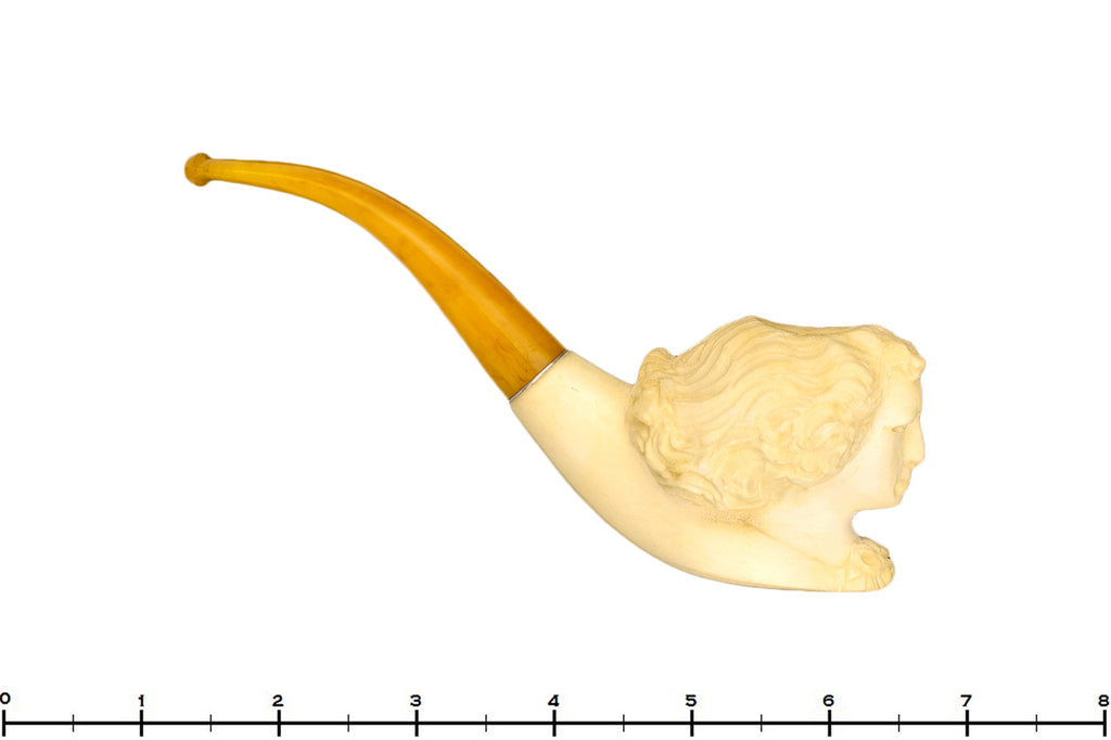 Blue Room Briars is proud to present this Meerschaum 1/2 Bent Figural with Bakelite Stem UNSMOKED Estate Pipe