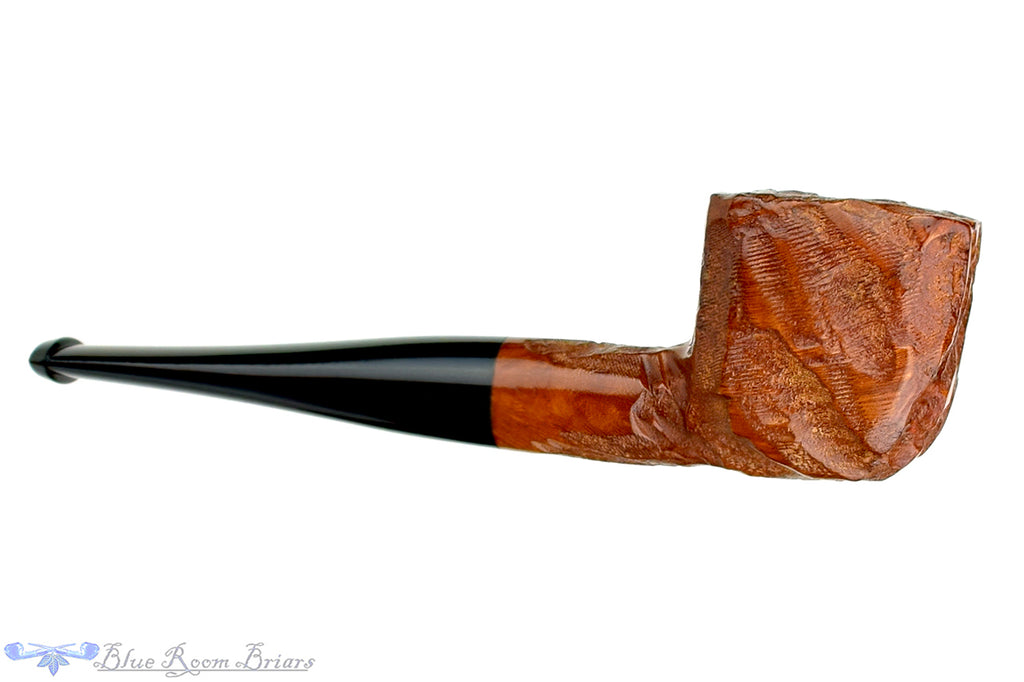 Blue Room Briars is proud to present this Imported Briar Rusticated Square Pot Unsmoked Estate Pipe