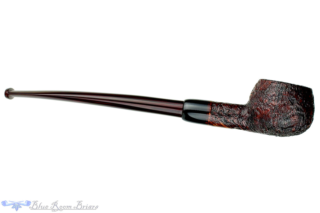 Blue Room Briars is proud to present this Joe Hinkle Pipe Sandblast Prince with Buffalo Horn Ferrule and Brindle