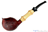 Blue Room Briars is proud to present this Thomas James Pipe Sandblast Ace of Spades with Bamboo