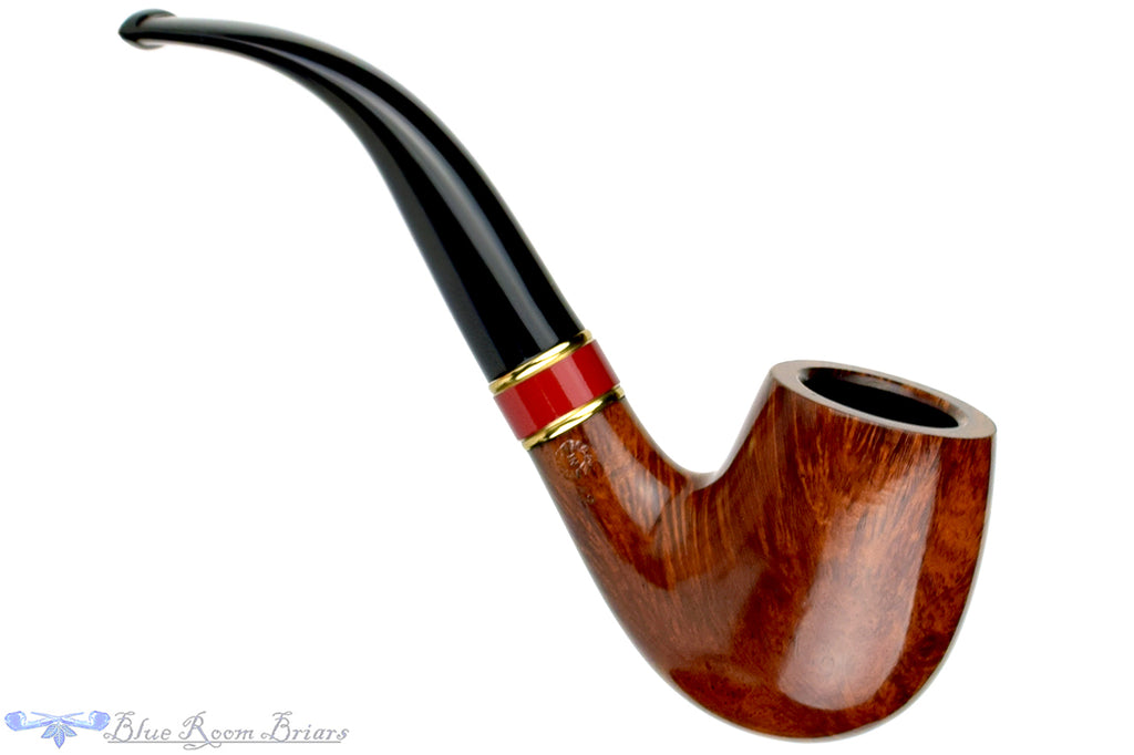 Blue Room Briars is proud to present this Comoy's Spectrum 42 1/2 Bent Billiard with Brass and Acrylic Estate Pipe and Custom Tamper
