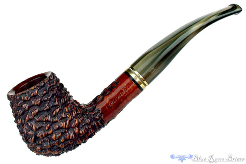 Ascorti Peppino 156 B 1/4 Bent Rusticated Horn with Fumed Top Estate Pipe