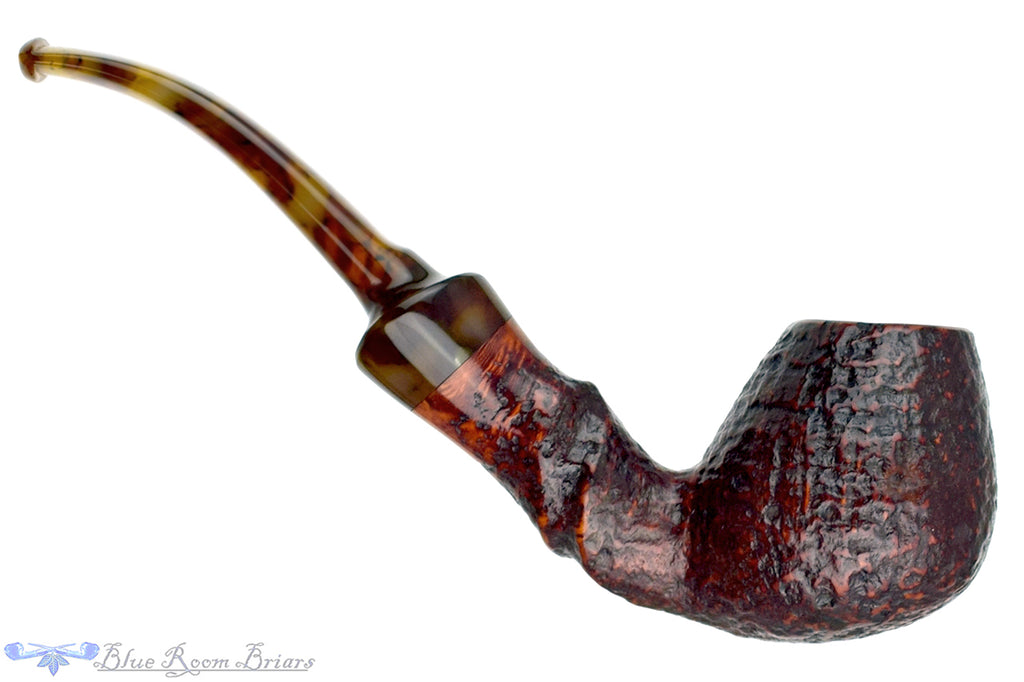 Blue Room Briars is proud to present this Nørding 11 1/2 Bent Sandblast Egg Estate Pipe