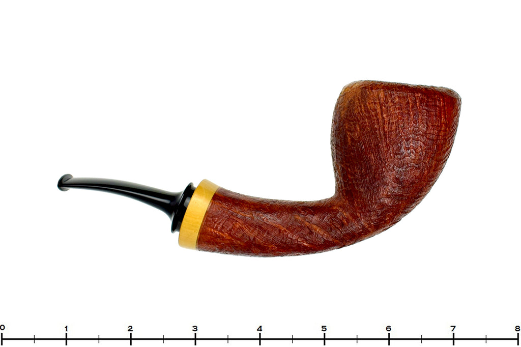 Blue Room Briars is proud to present this Thomas James Sandblast Danish Dublin with French Boxwood Estate Pipe