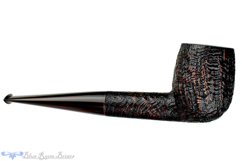 Blue Room Briars is proud to present this Jesse Jones Pipe Antique Blast LB Billiard with Brindle