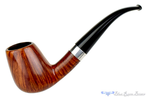 Jobey Sunburst 470 1/4 Bent Diamond Shank Billiard UNSMOKED Estate Pipe
