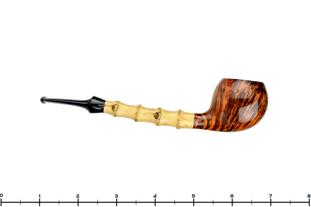 Blue Room Briars is proud to present this Benjamin Westerheide Pipe Tiger Striped Apple with Bamboo