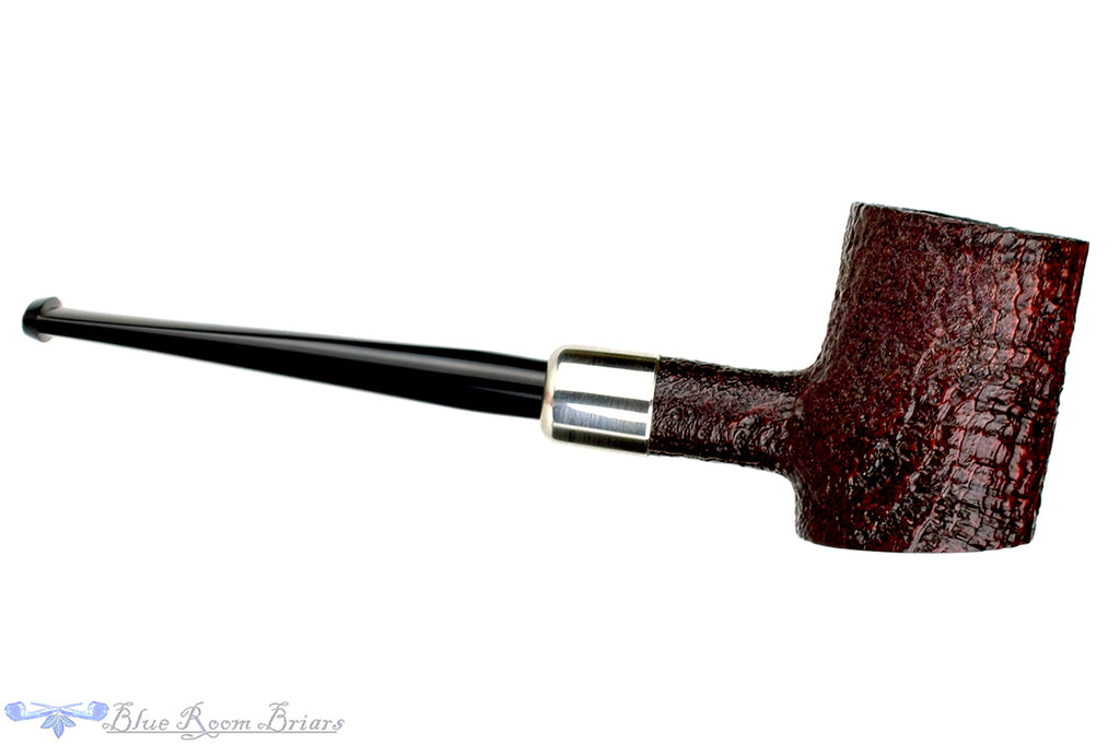 Blue Room Briars is proud to present this Ashton Silver Capped Sandblast Poker with Military Mount Estate Pipe