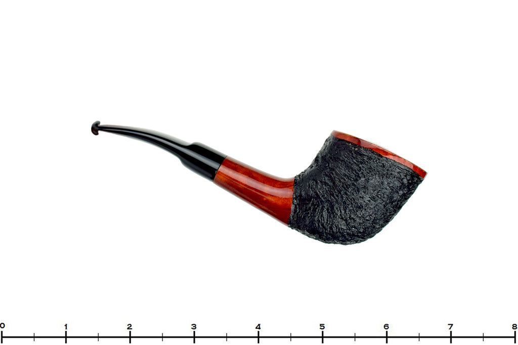Blue Room Briars is proud to present this Mr. Brog No. 99 Beta Partially Rusticated Yachtsman Estate Pipe