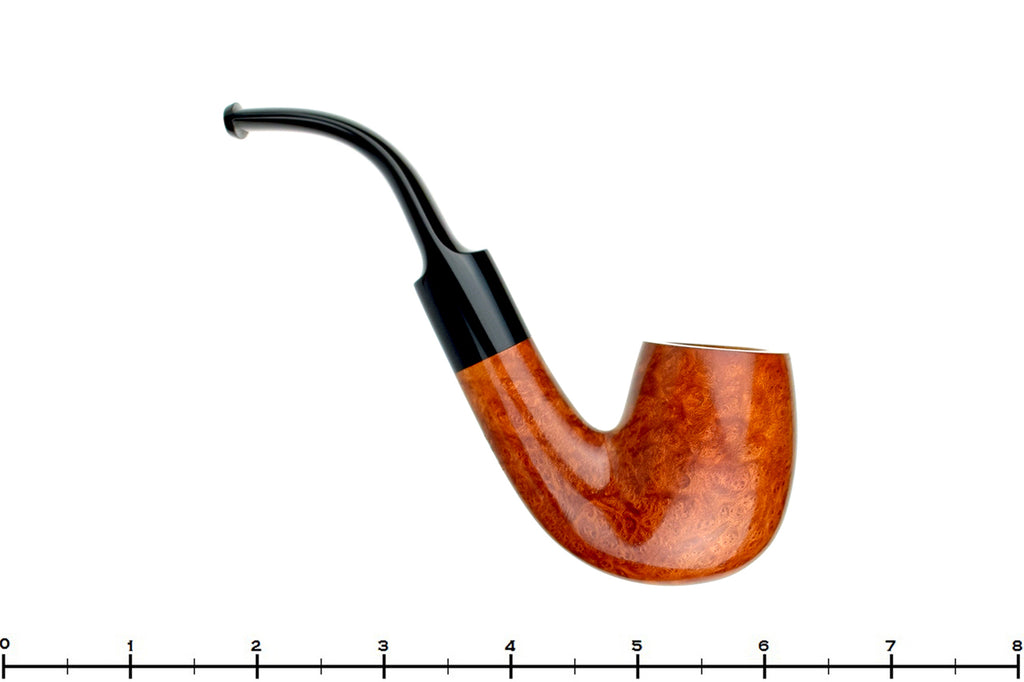 Blue Room Briars is proud to present this Blue Room Briars Pipe Smooth 3/4 Bent Billiard with Saddle Stem I