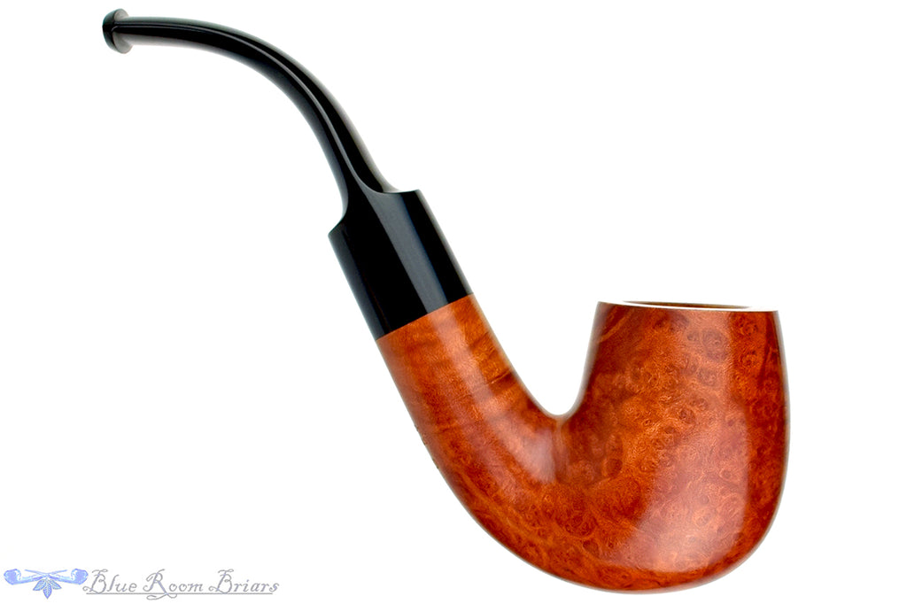 Blue Room Briars is proud to present this Blue Room Briars Pipe Smooth 3/4 Bent Billiard with Saddle Stem II