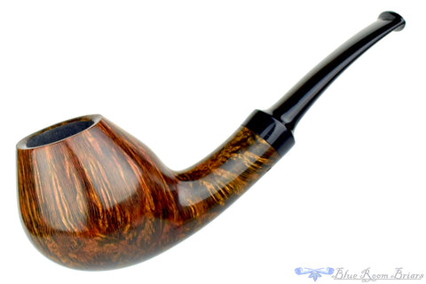 Clark Layton Pipe Tan Blast Billiard with Brindle