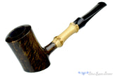Blue Room Briars is proud to present this George Boyadjiev Pipe 119 B Grade Poker Sitter with Bamboo