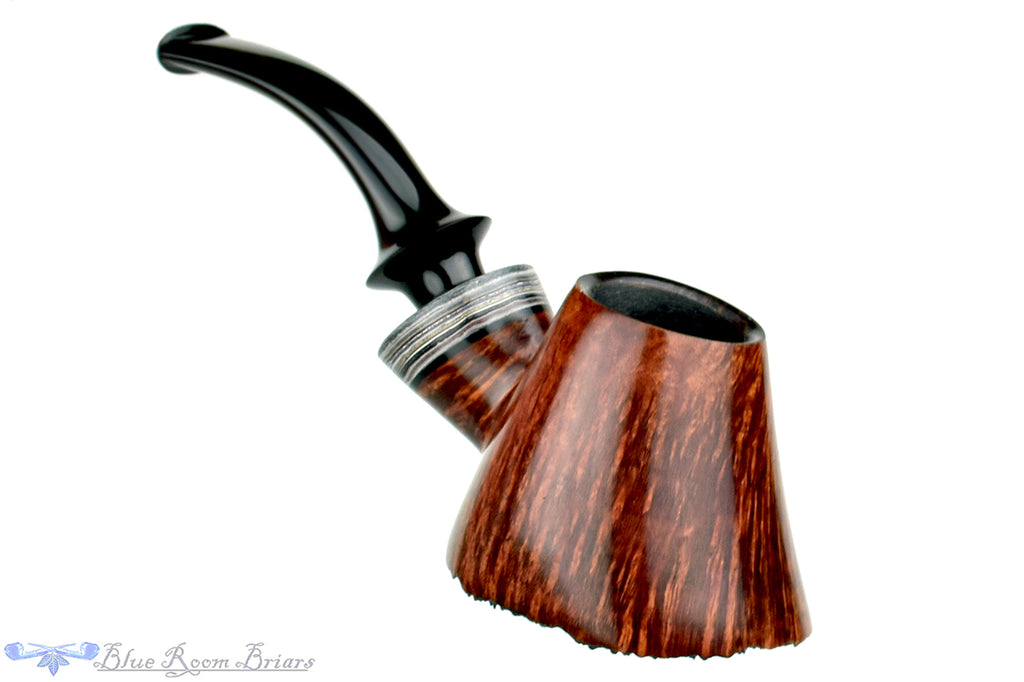 Blue Room Briars is proud to present this Marinko Neralić Pipe 1/4 Bent Volcano with Fordite