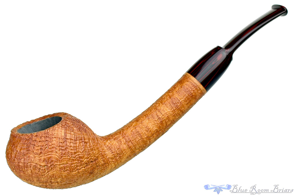 Blue Room Briars is proud to present this Bill Shalosky Pipe 412 Tan Blast Teapot with Brindle